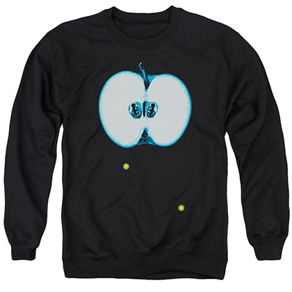 Fringe Apple Glyph Black Crew Neck Sweatshirt