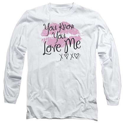 Gossip Girl You Love Me White Long Sleeve T-Shirt