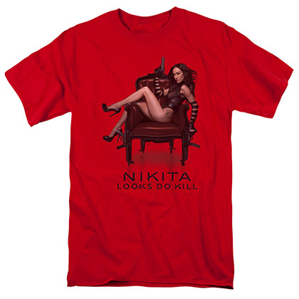 Nikita Sitting Red T-Shirt
