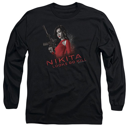 Nikita Looks Do Kill Black Long Sleeve T-Shirt