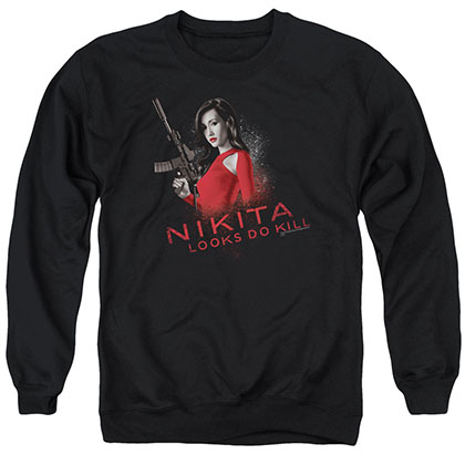 Nikita Looks Do Kill Black Crew Neck Sweatshirt