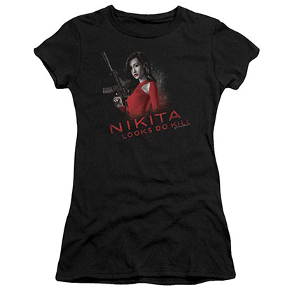 Nikita Looks Do Kill Black Juniors T-Shirt