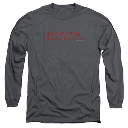 Nikita Logo Gray Long Sleeve T-Shirt