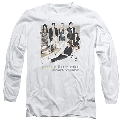 Gossip Girl Sitting Around White Long Sleeve T-Shirt