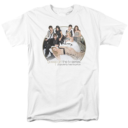 Gossip Girl Bed White T-Shirt