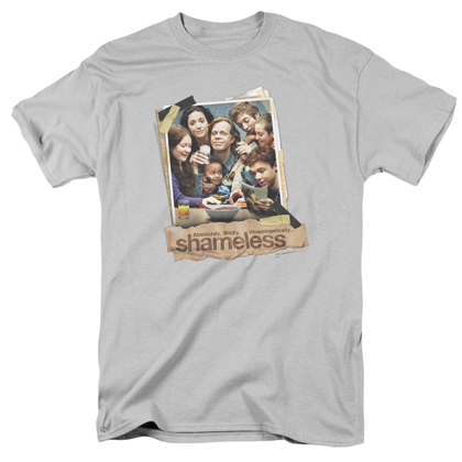 Shameless Dinner Table Polaroid Logo Tshirt