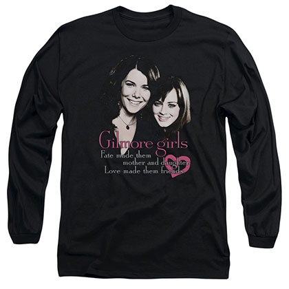 Gilmore Girls Title Black Long Sleeve T-Shirt