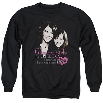 Gilmore Girls Title Black Crew Neck Sweatshirt