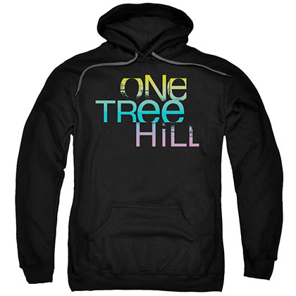 One Tree Hill Color Blend Logo Black Pullover Hoodie