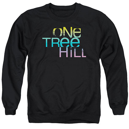 One Tree Hill Color Blend Logo Black Crew Neck Sweatshirt