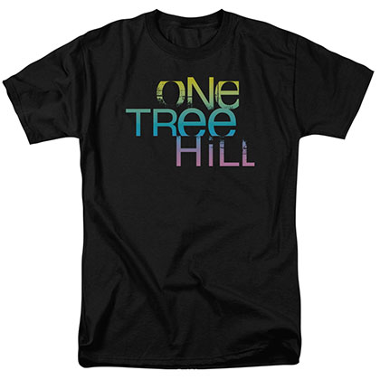 One Tree Hill Color Blend Logo Black T-Shirt