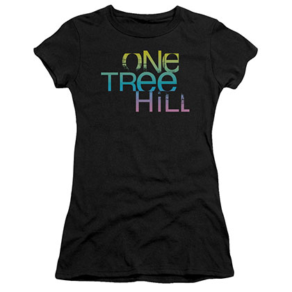 One Tree Hill Color Blend Logo Black Juniors T-Shirt