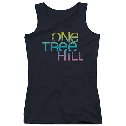 One Tree Hill Color Blend Logo Black Juniors Tank Top