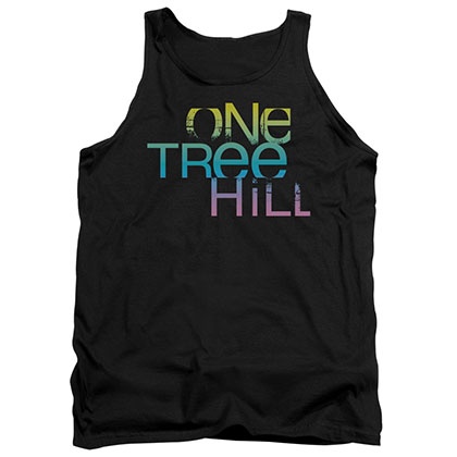 One Tree Hill Color Blend Logo Black Tank Top
