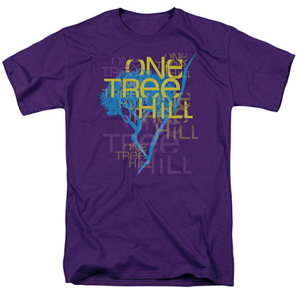 One Tree Hill Title Purple T-Shirt