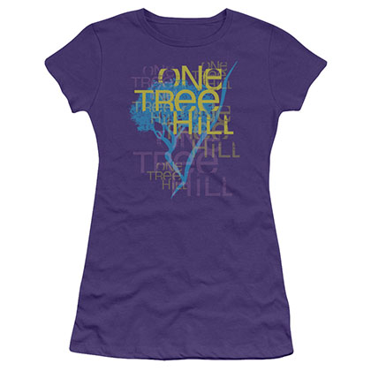 One Tree Hill Title Purple Juniors T-Shirt