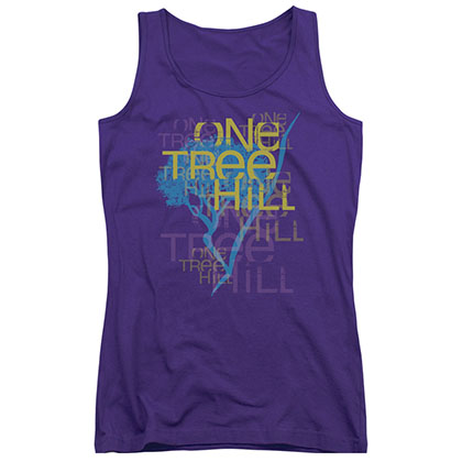 One Tree Hill Title Purple Juniors Tank Top