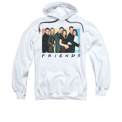 Friends Cast White Pullover Hoodie