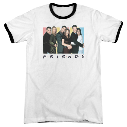Friends Cast Logo Ringer Tshirt