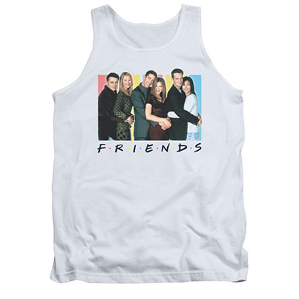 Friends Cast Logo White Tank Top