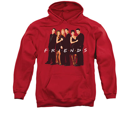 Friends Dressed Up Cast Red Pullover Hoodie