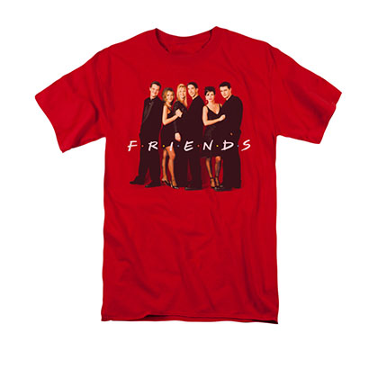 Friends Cast Red Tee Shirt