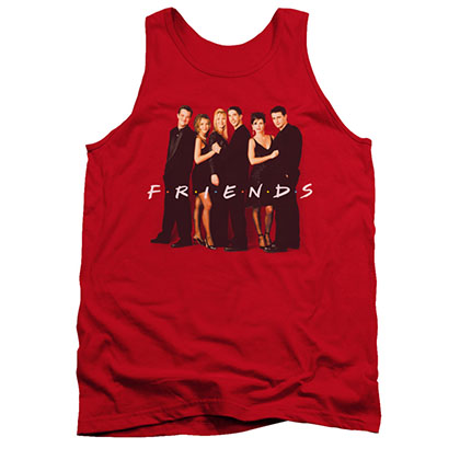 Friends Dressed Up Cast Red Tank Top