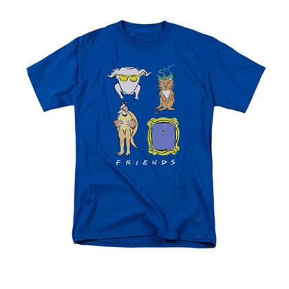 Friends Symbols Blue T-Shirt