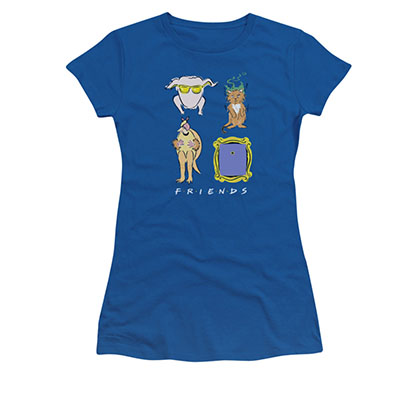 Friends Symbols Blue Juniors Tee Shirt