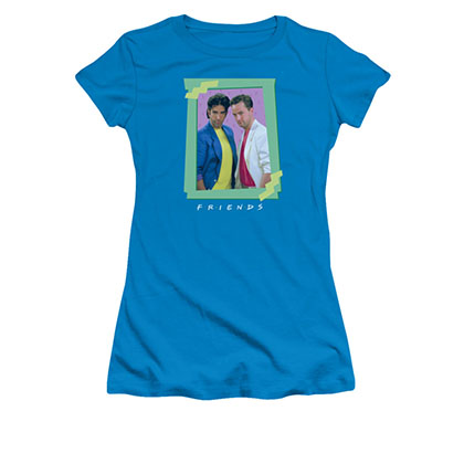 Friends Juniors Blue 80s Flashback Tee Shirt
