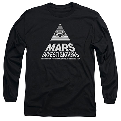 Veronica Mars Marts Investigations Black Long Sleeve T-Shirt
