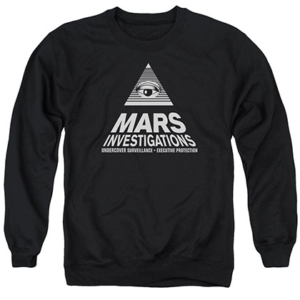 Veronica Mars Marts Investigations Black Crew Neck Sweatshirt