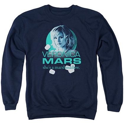 Veronica Mars Marshmallow Logo Blue Crew Neck Sweatshirt