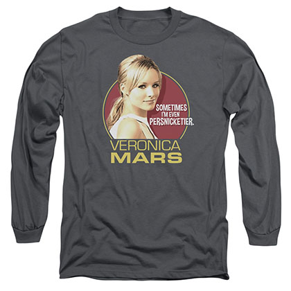 Veronica Mars Persnicketier Gray Long Sleeve T-Shirt
