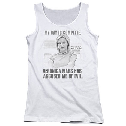 Veronica Mars Complete Day White Juniors Tank Top