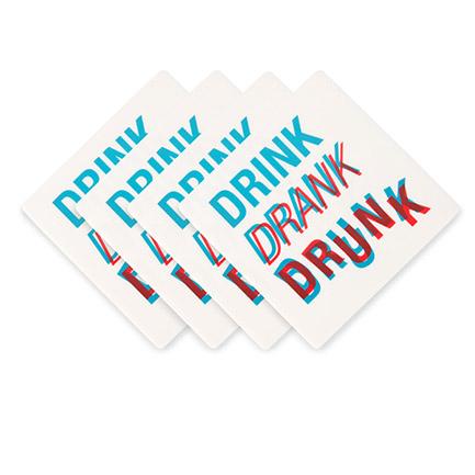 Drink Drank Drunk Coaster Set of 4