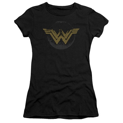 Wonder Woman Distressed Logo Women's Tshirt