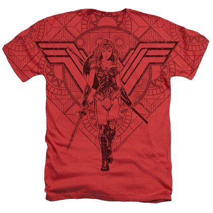 Wonder Woman Red and Black Tshirt
