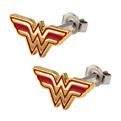 Wonder Woman Logo Stainless Steel Earrings