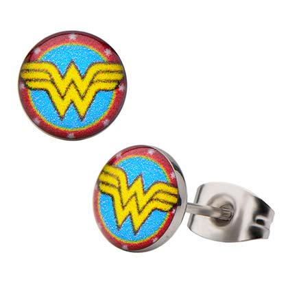 Wonder Woman Round Stud Earrings