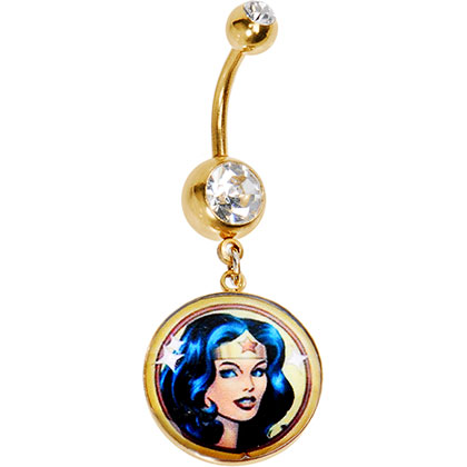 Wonder Woman Belly Ring