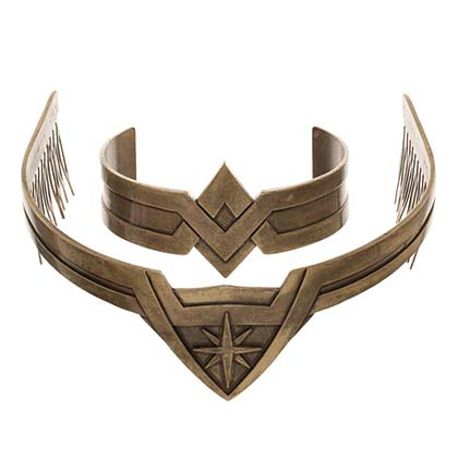 Wonder Woman Costume Tiara & Cuff Set