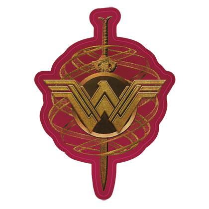 Wonder Woman Golden Crest Decal