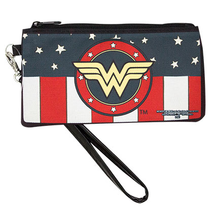 Wonder Woman Canvas Women's Zipper Wallet