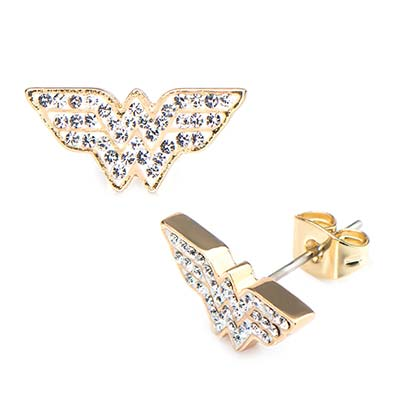 Wonder Woman Studded Gem Earrings