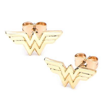 Wonder Woman Gold Plated Stud Earrings