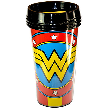 Wonder Woman Plastic Travel Mug