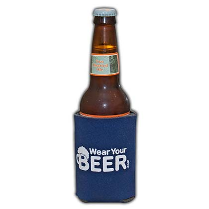 Wear Your Beer Logo Navy Blue Can Bottle Cooler