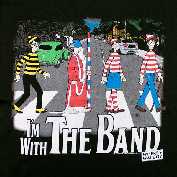Where's Waldo Abbey Road Tee - Black