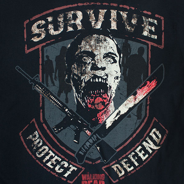 The Walking Dead Survive Protect Defend Men's T-Shirt